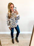Taupe Leopard Brushed Knit Top