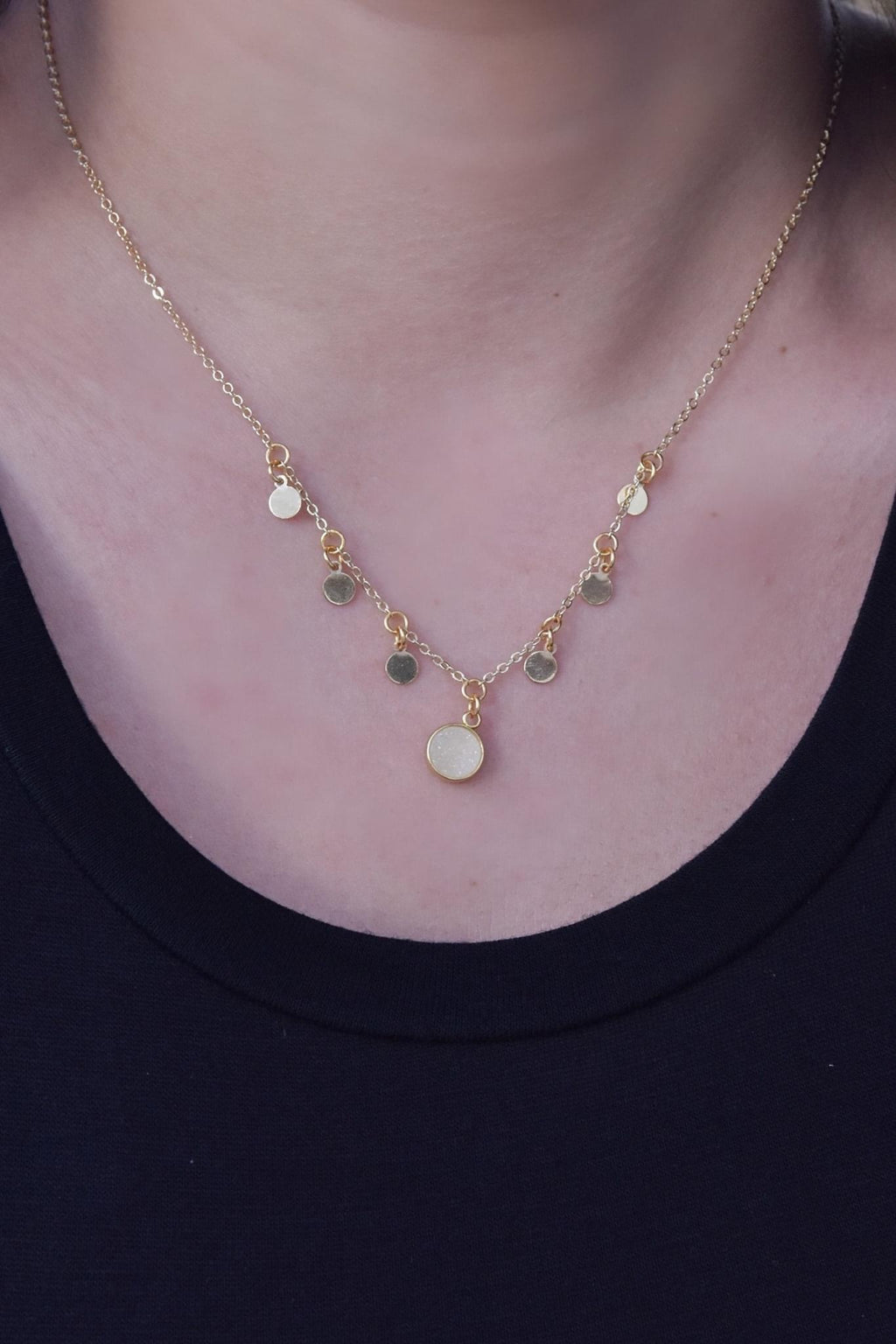 Bubbly Gold Necklace