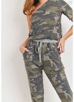 Camo One Shoulder Knit Jumpsuit