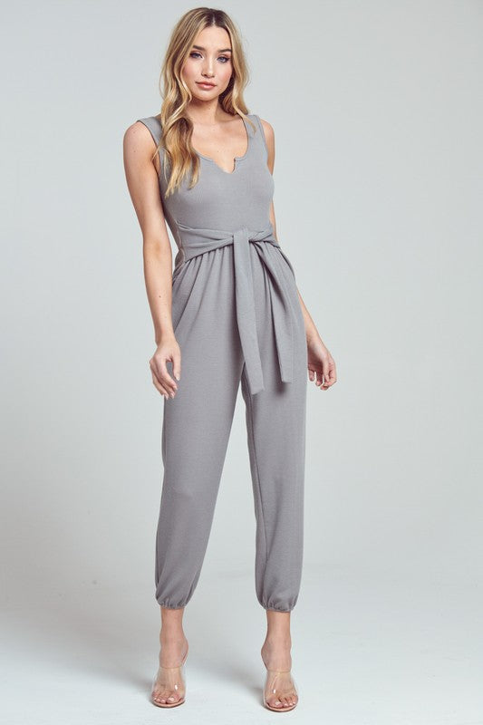 Sage Sleeveless Jumpsuit