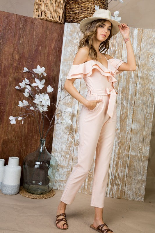 Double Layered Ruffled Jumpsuit