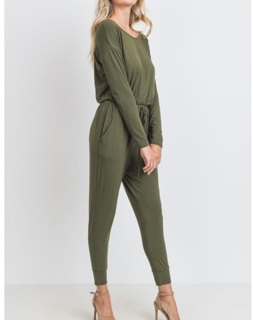Deep Olive Jumpsuit
