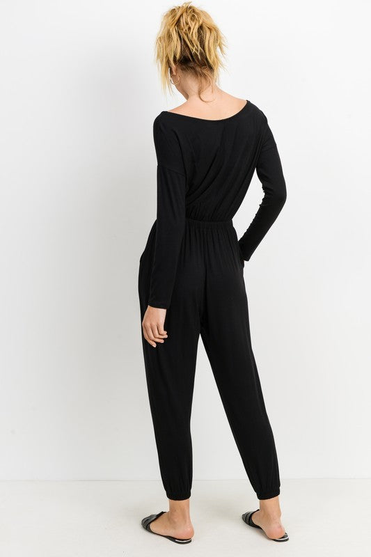 Black Long Sleeve Jumpsuit