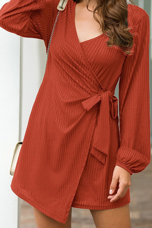 Wrap Around Long Sleeve Romper