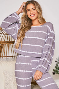 Grey/Ivory Tie Dye Long Sleeve Set