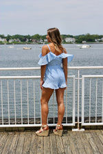 Sleeveless Romper With Waist Tie