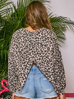 Leopard Brushed Knit Top