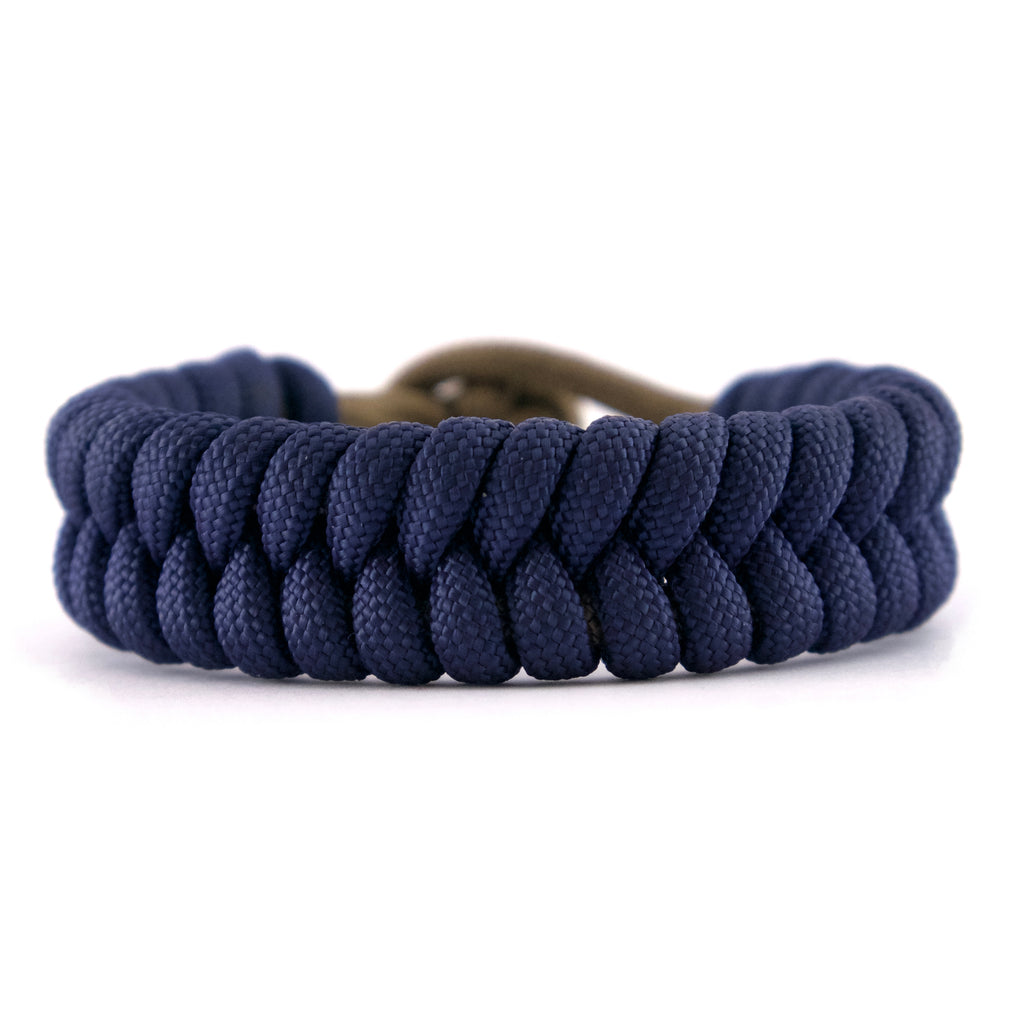 Pulsera paracord Abantos azul marrón diamante hikecord