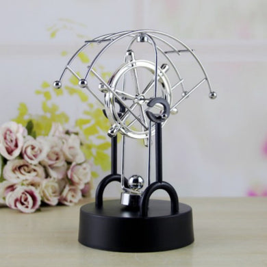 1Pcs Rotating swing ornaments Gizmos Perpetual Motion Spherical Pendulum Revolving Desk Orbital Toy Office Home Decoration