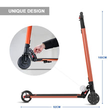 Electric Scooter 601 6.5inch Wheels Foldable City E-Roller Orange