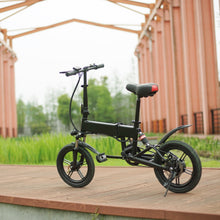 Portable & Folding Electric Bike E- Bicycle Black and White