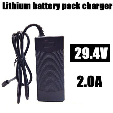 Smarthlon 6 inch scooter charger High quality 29.4V 2A electric bike lithium 18650 charger for 24V 2A lithium battery pack Plug connector charger