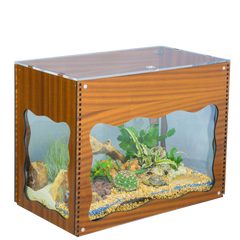 Terrarium Treasure Chest Cover - Aquarium Decorative Cover - Aquaterra Tank Decor