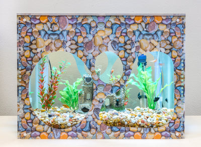 Aquarium Decorative Cover - Wet Pebbles - Aquaterra Tank Decor
