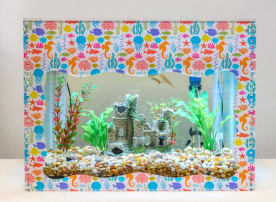 Aquarium Treasure Chest Cover - Marine live - Aquaterra Tank Decor