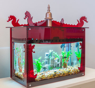 Aquarium Decorative Cover - Red - Aquaterra Tank Decor