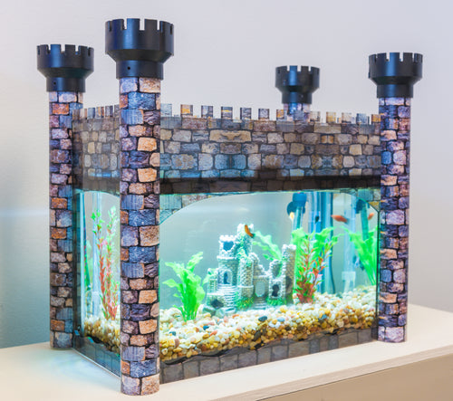 Aquarium Castle Cover - Stone Pattern - Aquaterra Tank Decor