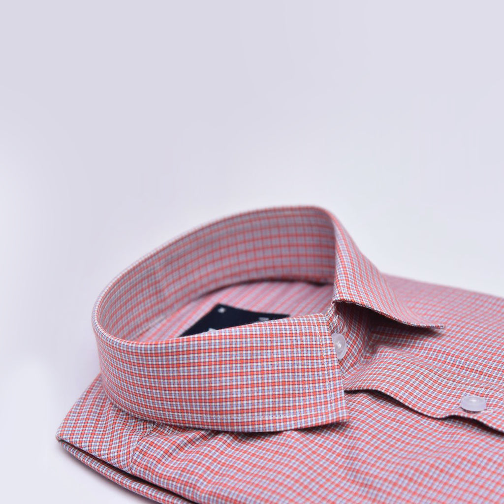 Bruttlyn Red Checks Formal Slim Fit Shirt - Bruttlyn