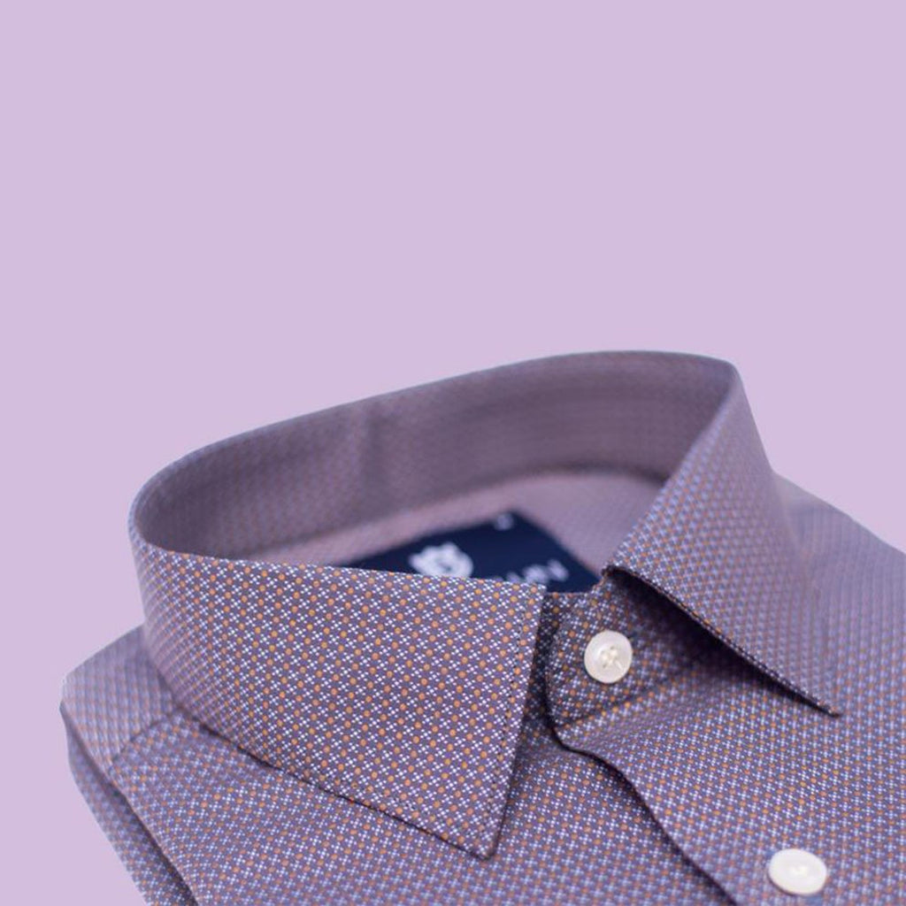 Charcoal Grey printed formal shirt