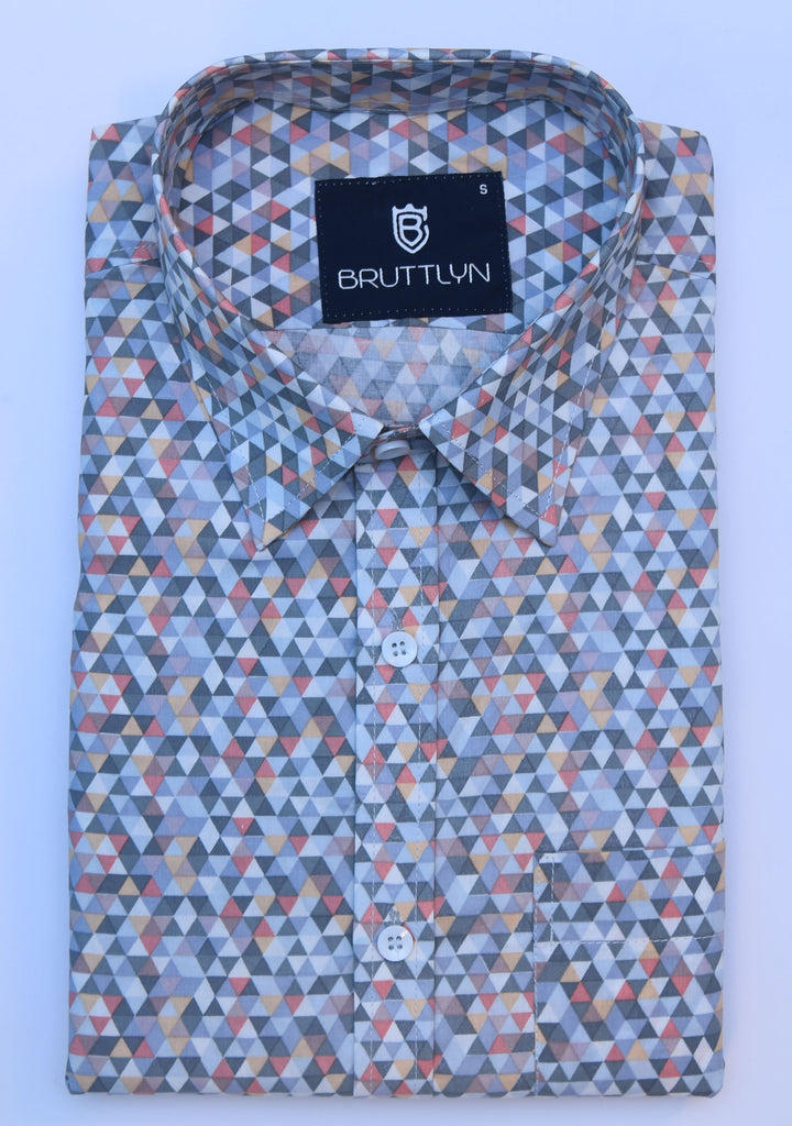 Atajo Greytraingle Slim Fit Casual Shirt - Bruttlyn