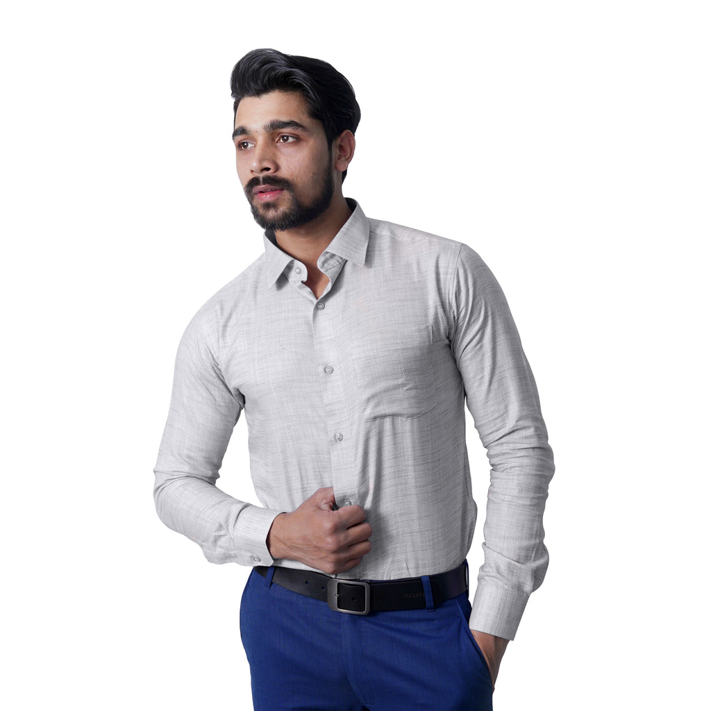 Island Blue Slim Fit Formal Shirt - Bruttlyn