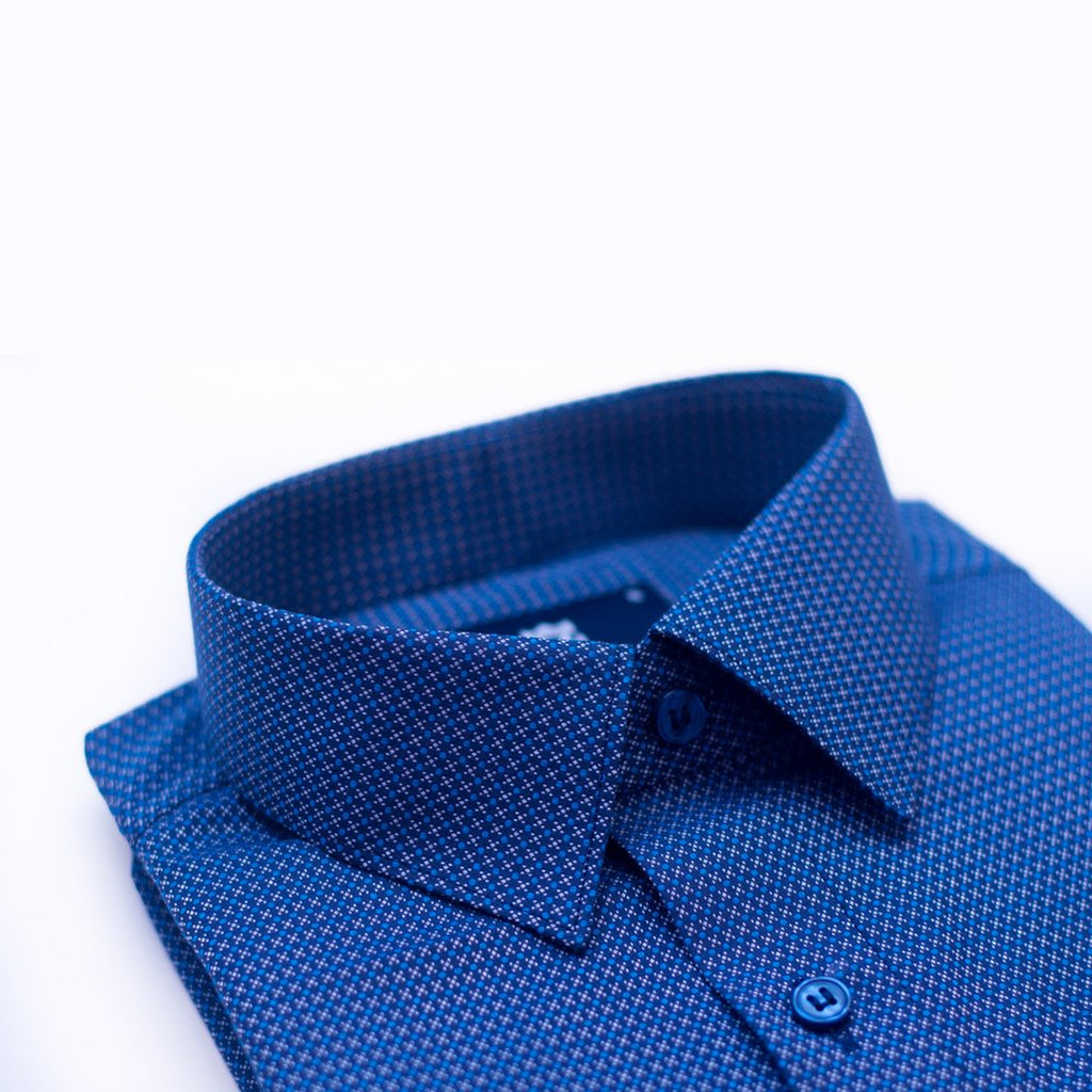 Starlight Blue Printed formal shirt - Bruttlyn