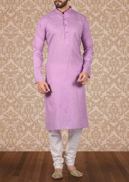 Purple Khadi Kurta - Bruttlyn