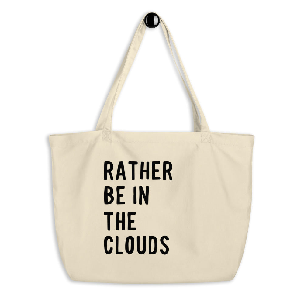 Rather Be In The Clouds - Large Eco Tote Bag - Travel Suppliers Plus