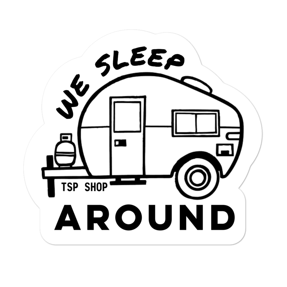 We Sleep Around Sticker - Travel Suppliers Plus