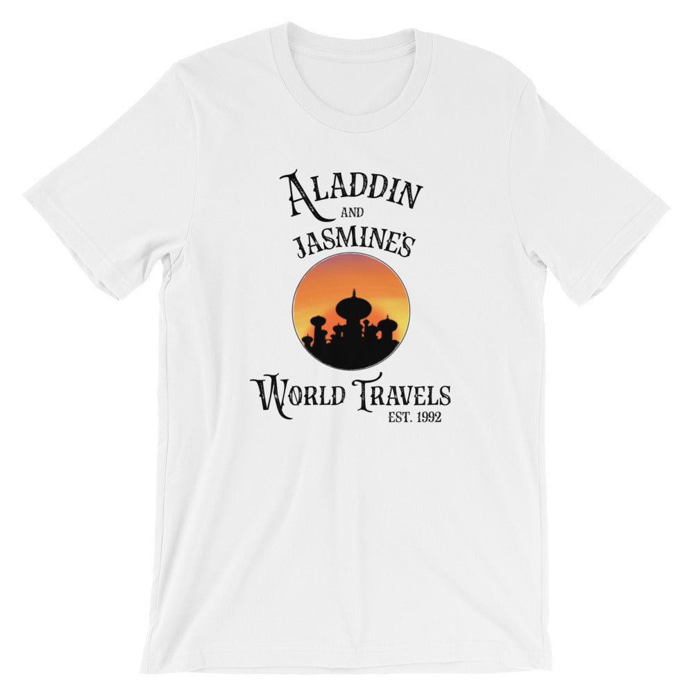 Aladdin & Jasmine's World Travels T-Shirt - Travel Suppliers Plus