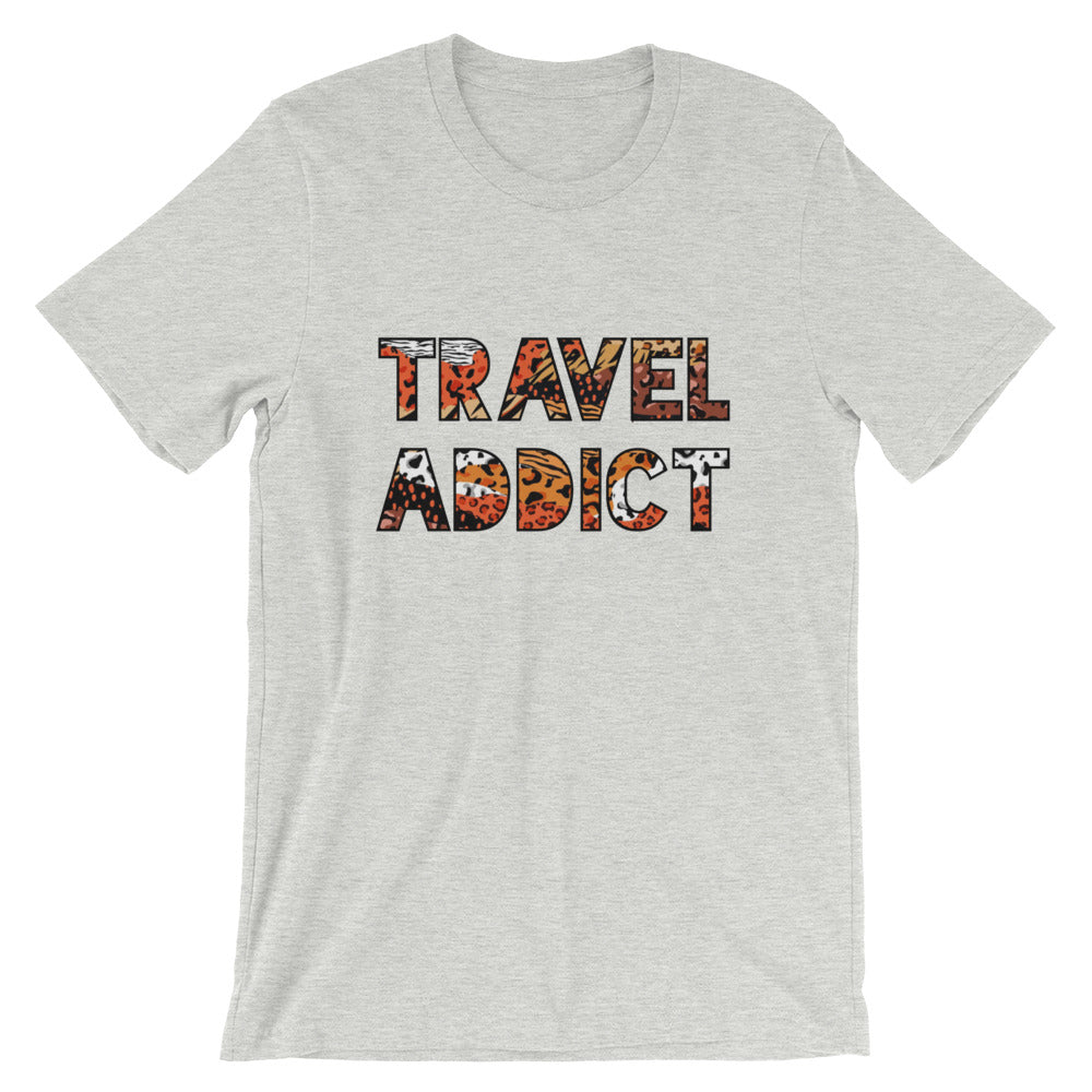 Travel Addict Animal Print T-Shirt - Travel Suppliers Plus