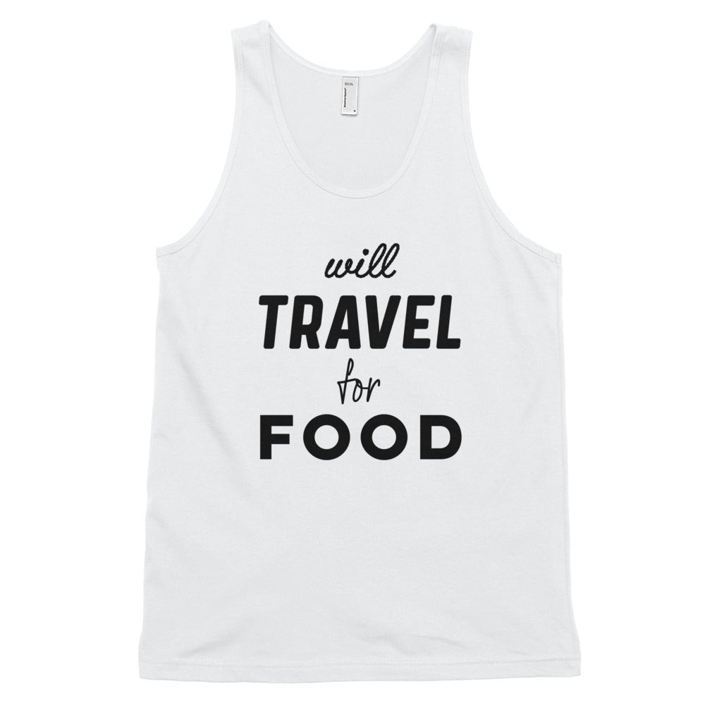 Will Travel For Food Tank Top - Travel Suppliers Plus