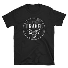 Load image into Gallery viewer, Travel Addict Passport Stamp T-Shirt - Travel Suppliers Plus