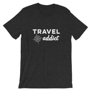 Travel Addict with Compass T-Shirt - Travel Suppliers Plus