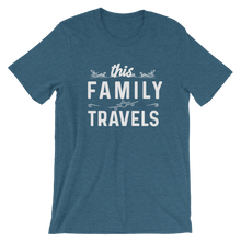 Load image into Gallery viewer, This Family Travels T-Shirt - Travel Suppliers Plus