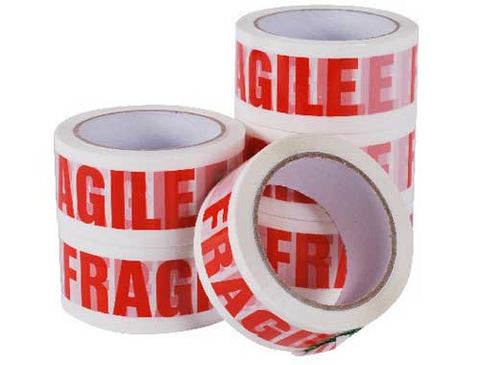 Fragile Tape (6 Roll Pack)