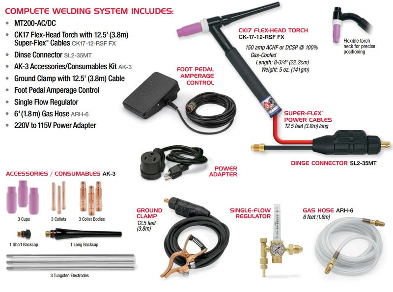 CK Worldwide MT200-AC/DC TIG Welding System