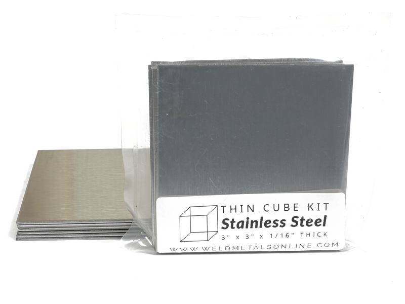 "Thin Cube Kit stainless steel 3"" x 3"" x 1/16"" thick"