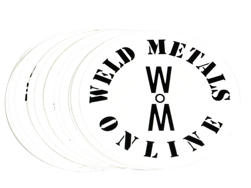 Weldy sticker weld metals online round logo sticker