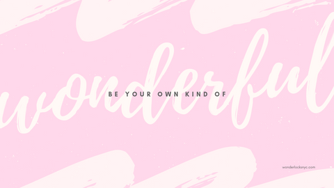 be your own kind of wonderful beautiful inspirational quote desktop wallpaper pink women girls productivity office home art design nice love peace grace hopper paint streak script typography digital product free download online sale get modern style
