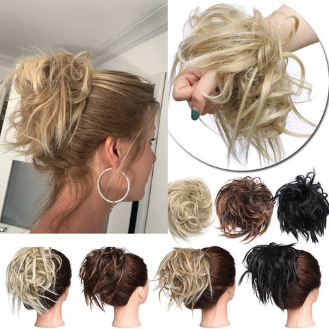 Synthetic Blonde Donut Hair Extension