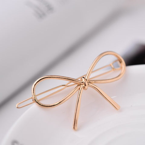 Metal Bow Hair Pin