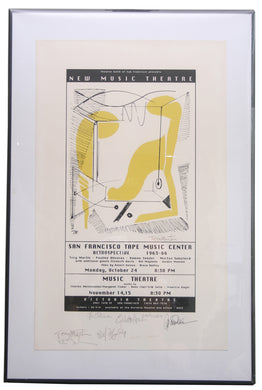 San Francisco Tape Music Center Retrospective Poster signed