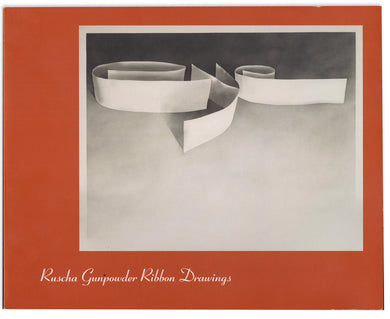 Ruscha Gunpowder Ribbon Drawings