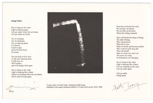 Patti Smith and Path Soong Collaboration: Going Under—Poem and Print