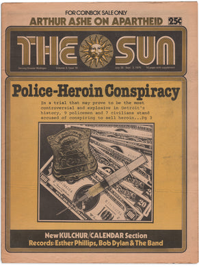 Ann Arbor Sun, Vol. 3, Issue No. 16, July 30–Sept. 3, 1975 Police-Heroin Conspiracy