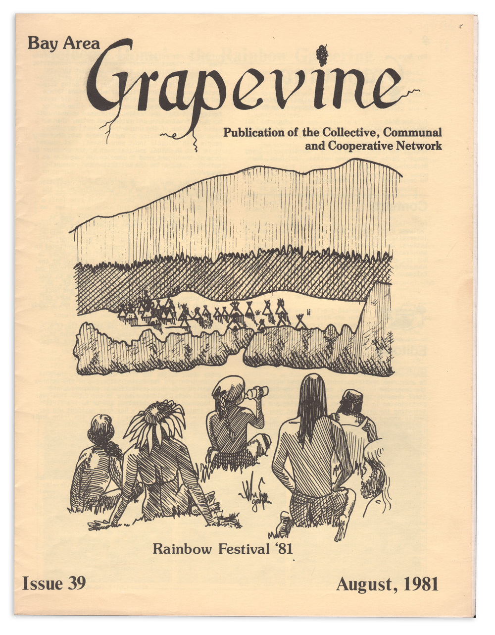 Bay Area Grapevine Issue 89: Rainbow Festival '81 commune newspaper