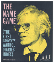 Load image into Gallery viewer, The Name Game (The First Complete Warhol Diaries Index)