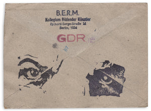 [1980s DDR (East German) Mail Art]—B.E.R.M. and Mechow—Two Pieces