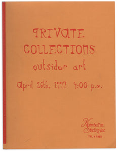 Kimball M. Sterling—Private Collections Outsider Art